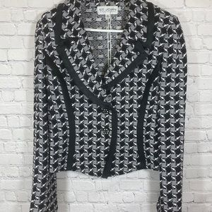 ST.JOHN Collection black and white blazer